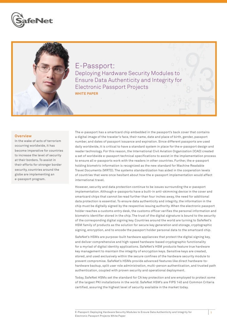 E-Passport:                                    Deploying Hardware Security Modules to                                    E...