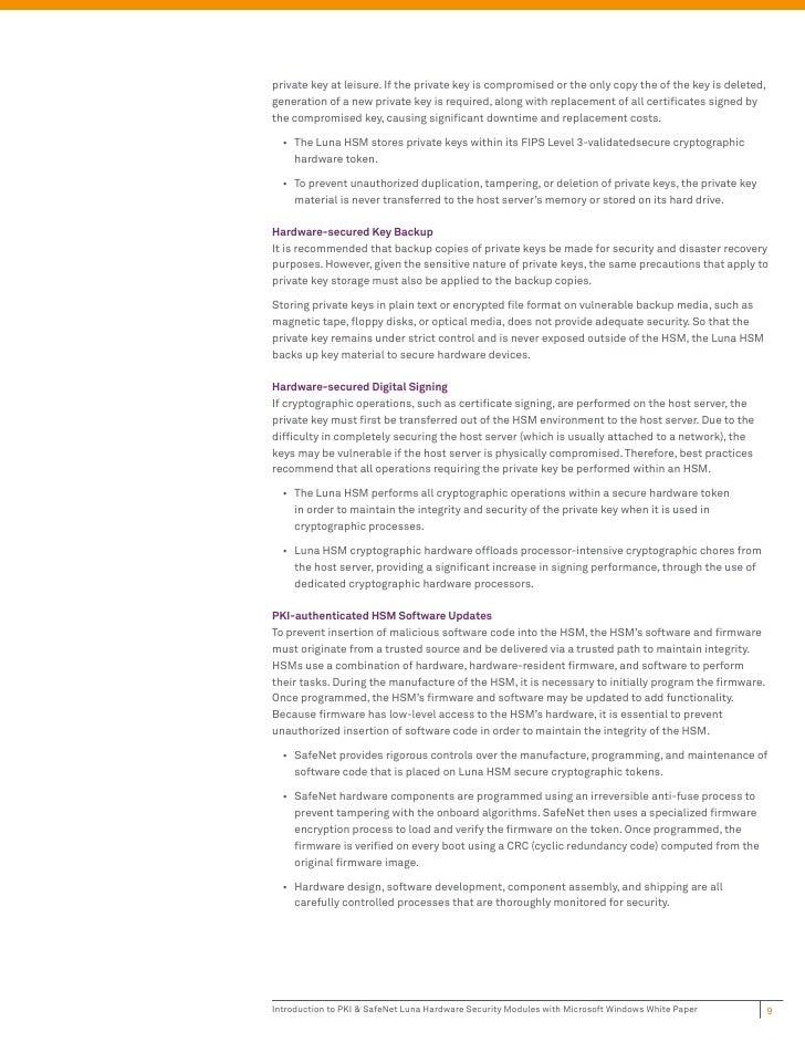 Introduction to PKI & SafeNet Luna Hardware Security Modules