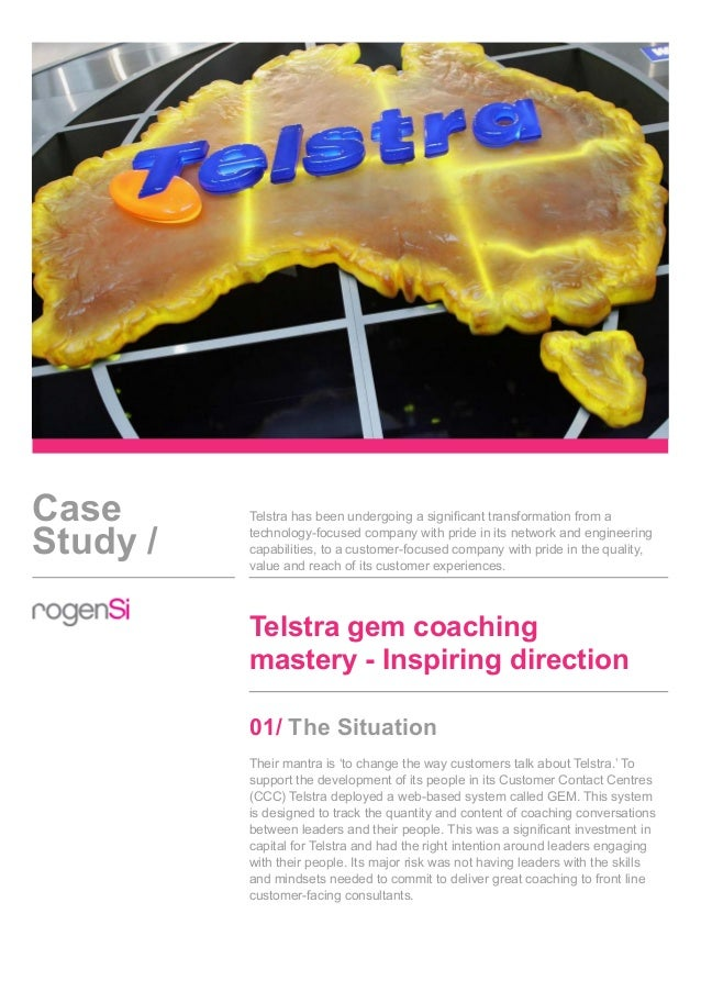 Case Study / Telstra has been undergoing a significant transformation from a technology-focused company with pride in its ...
