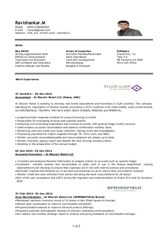 Stunning Part Qualified Management Accountant Resume Contemporary ...
