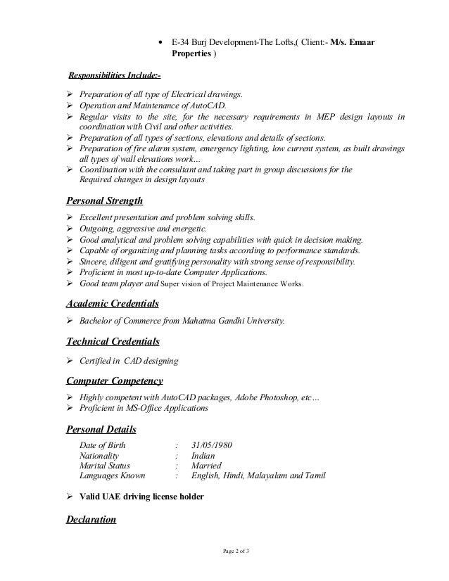 resume of electrical draughtsman - Sample Resume Electrical Cad Designer