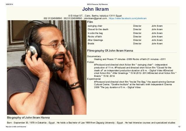 imdb resume my resume 2