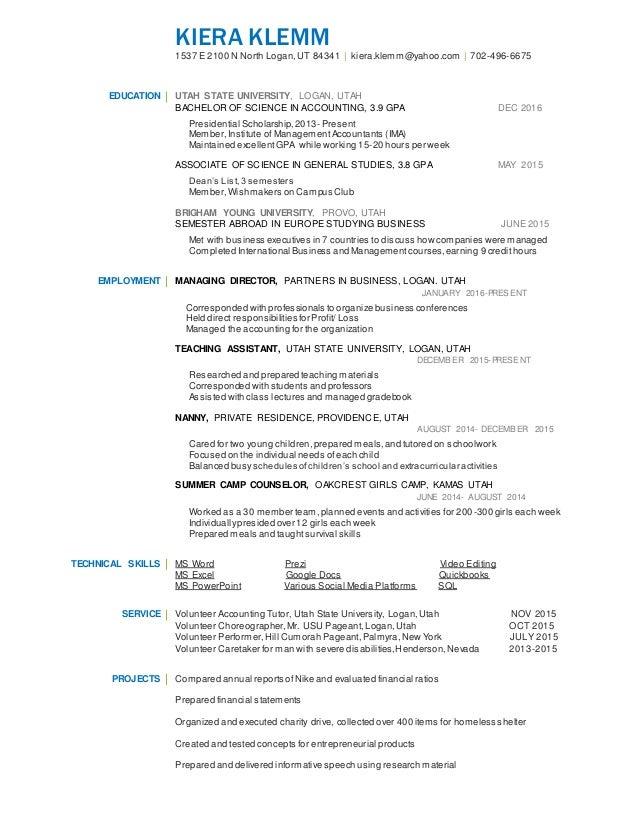Best Utah Accounting Resume Ideas - Best Resume Examples and ...