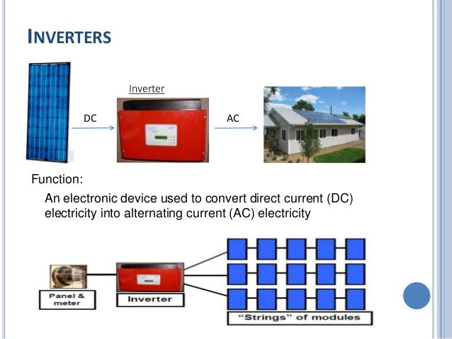 What device converts direct current into alternating current?