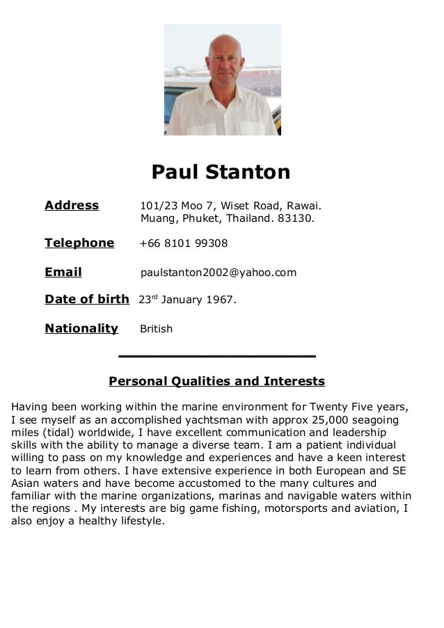 paul stanton resume
