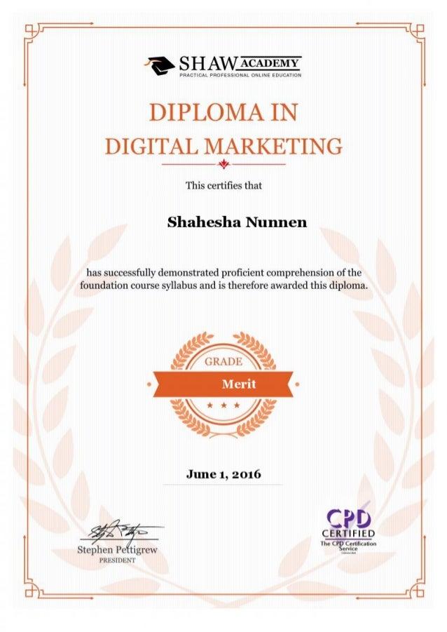 Diploma Digital Marketing