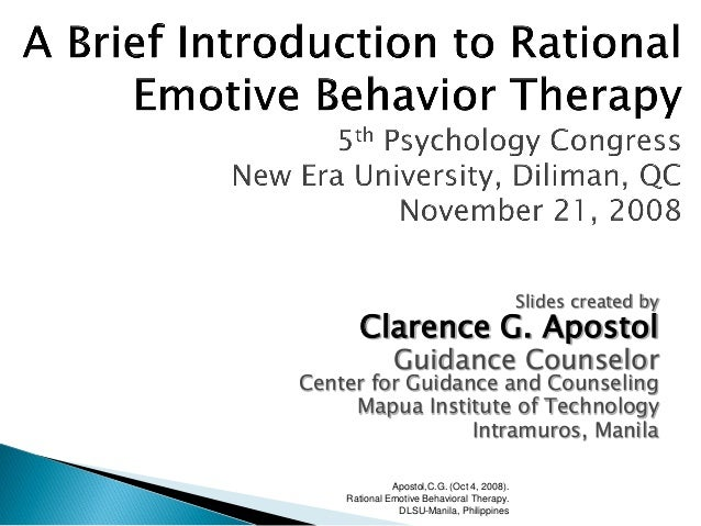 rational emotive behavior therapy essay Free essays on rational emotive behavior therapy get help with your writing 1 through 30.