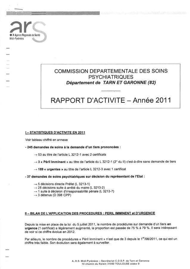 82 rapport activité cdsp 2011