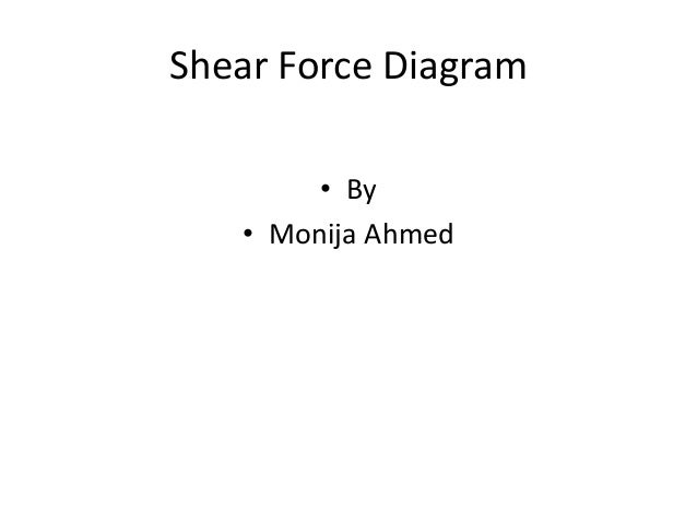 Shear Force Diagram • By • Monija Ahmed