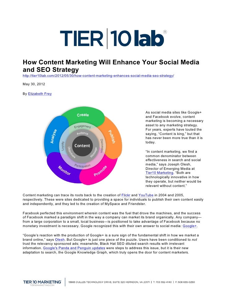 How Content Marketing Will Enhance Your Social Mediaand SEO Strategyhttp://tier10lab.com/2012/05/30/how-content-marketing-...