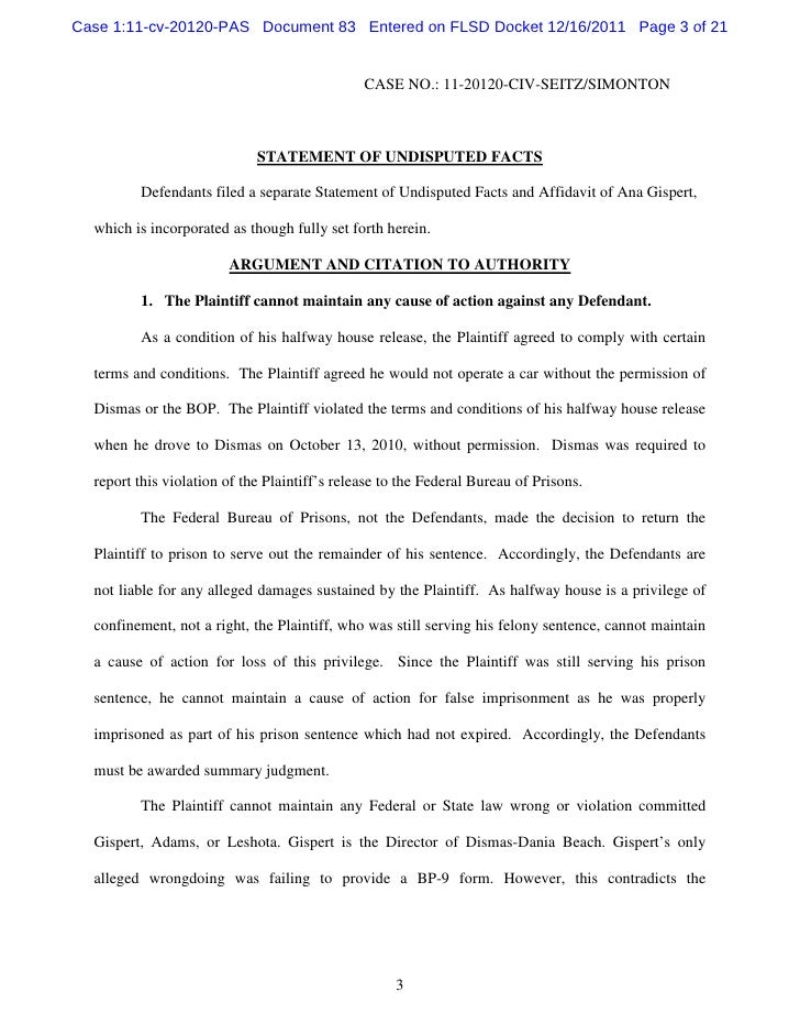 83 main – Affidavit Statement of Facts