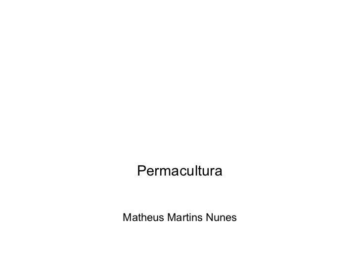 Permacultura Matheus Martins Nunes