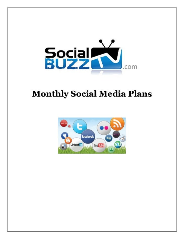 Monthly Social Media Plans