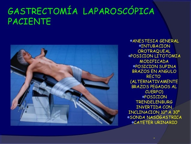 GASTRECTOMIA LAPAROSCOPICAMONITORIZACION Y ANESTESIA