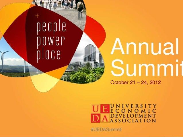 Annual      Summit       October 21 – 24, 2012#UEDASummit