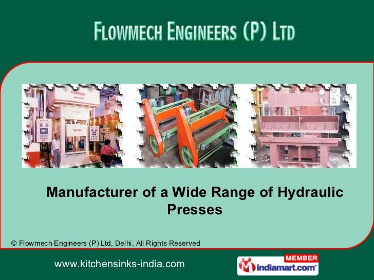 Manufacturer of a Wide Range of Hydraulic Presses
