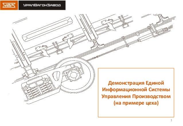 1 Демонстрация Единой Информационной Системы Управления Производством (на примере цеха)
