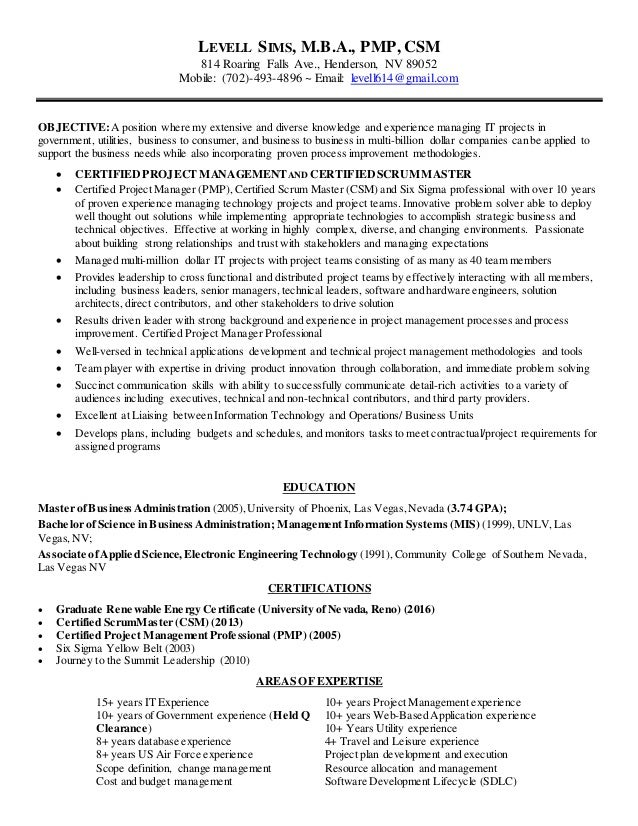LSims Resume 2016