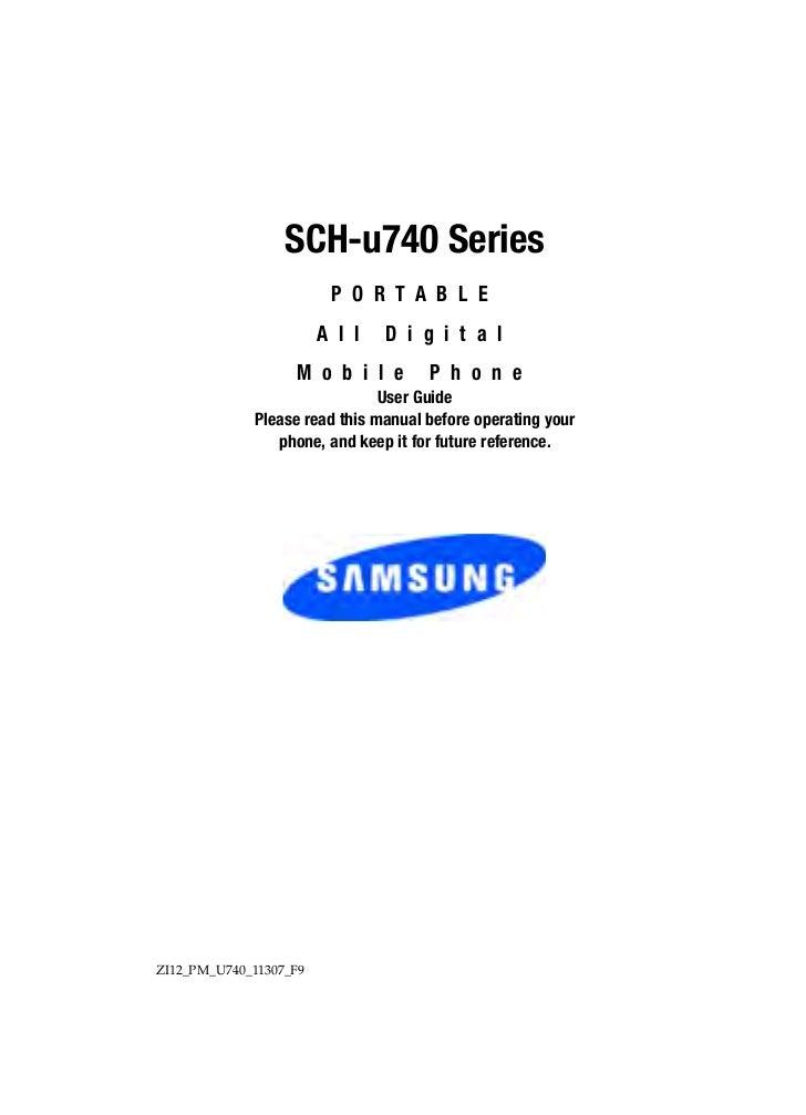 SCH-u740 Series                         P O R T A B L E                        A l l   D i g i t a l                   M o...