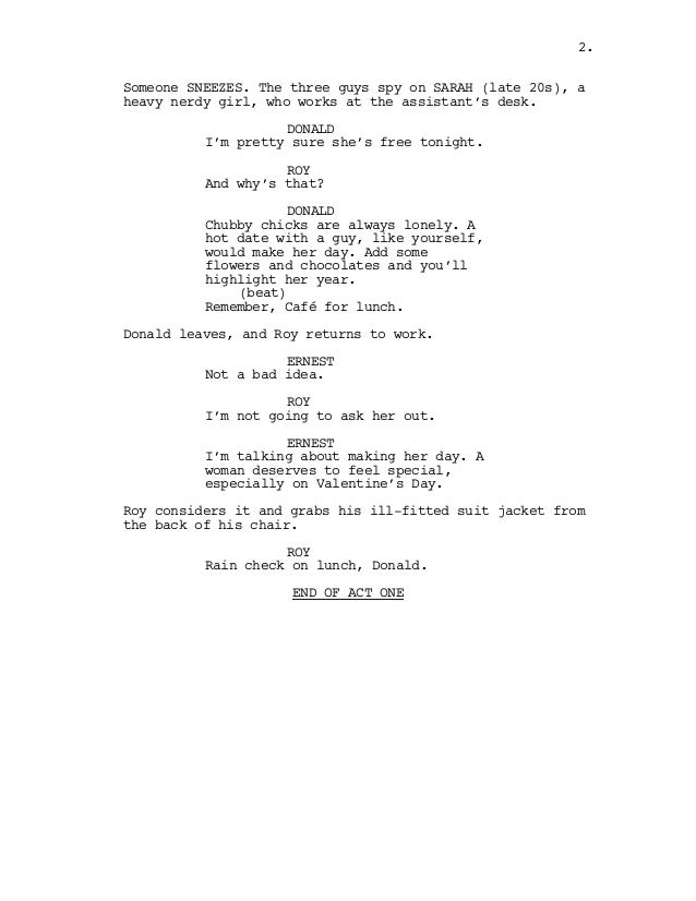 the lunch date script