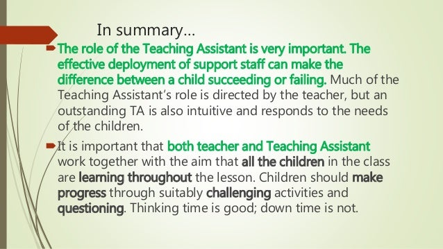 How TA practice can promote Teaching & Learning CPD 24.06.15