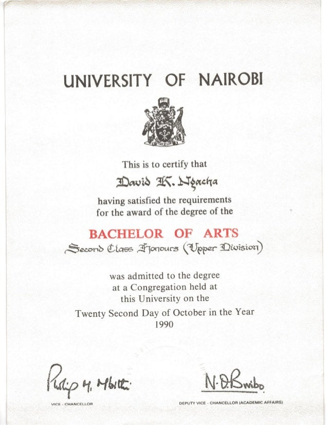 DAVID KARIUKI - CERTIFICATES