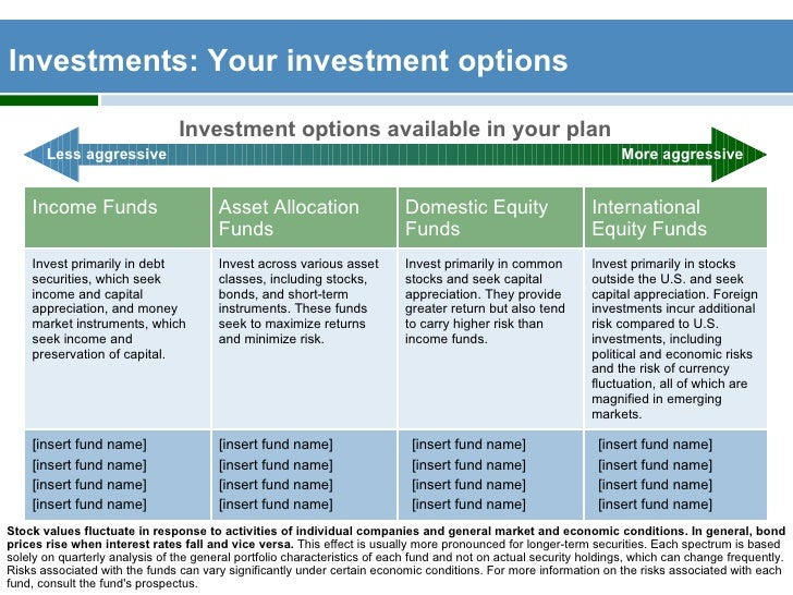 Publix 401k investment options