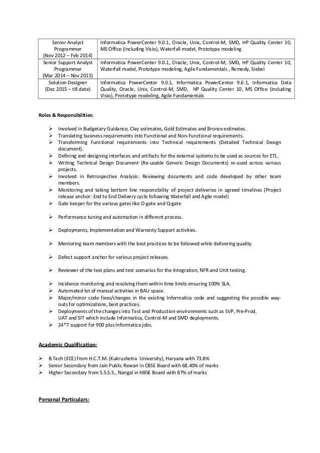 Resume Sudhir