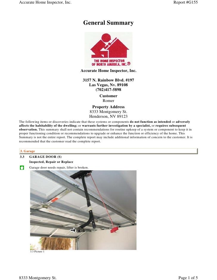 Accurate Home Inspector, Inc.                                                                               Report #G155  ...
