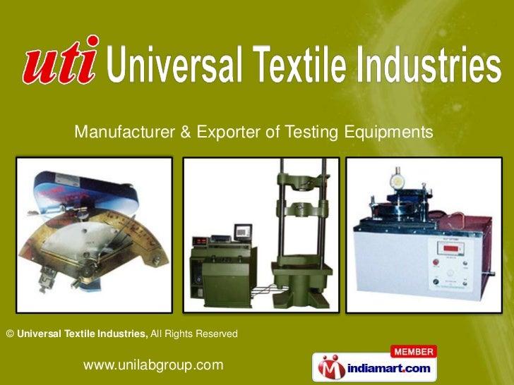 Manufacturer & Exporter of Testing Equipments<br />