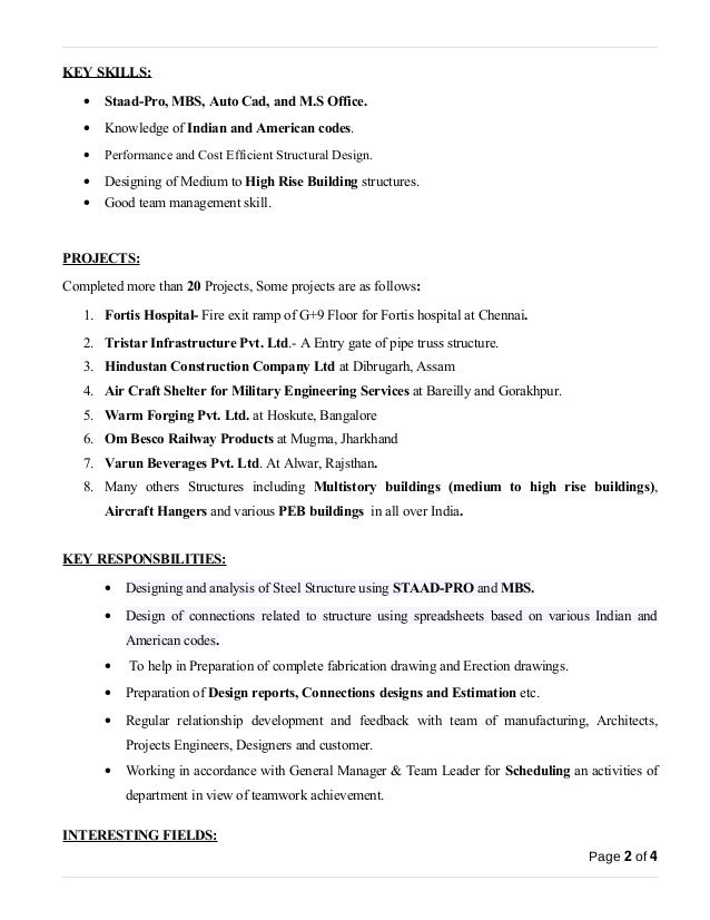 page 1 of 4 2 - Design Engineer Resume