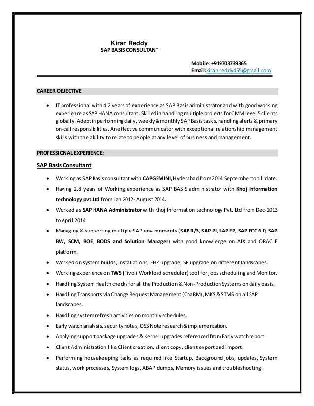 Kiran reddy_SAP BASIS CONSULTANT