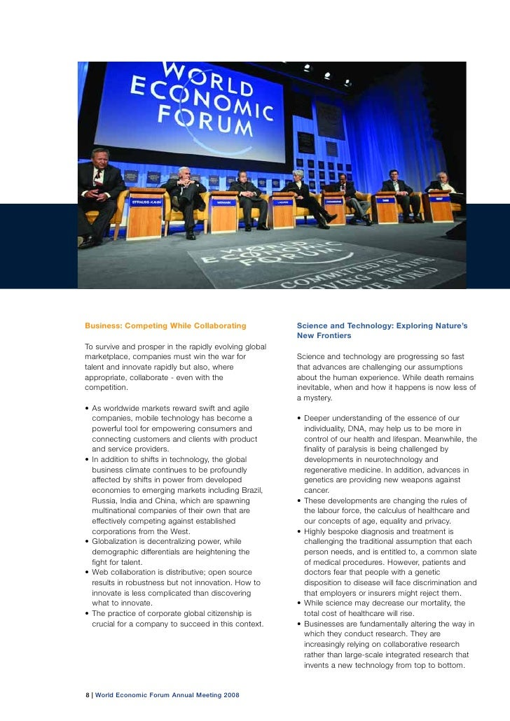 World Economic Forum Annual Meeting 2008