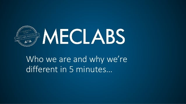 Who we are and why we're different in 5 minutes…