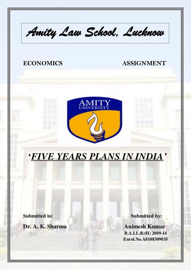 amity assignment Amity school of distance learning post box no 503, sector 44, noida 201 303 assignment no adl – 45 assignments a will carry five subjective questions.