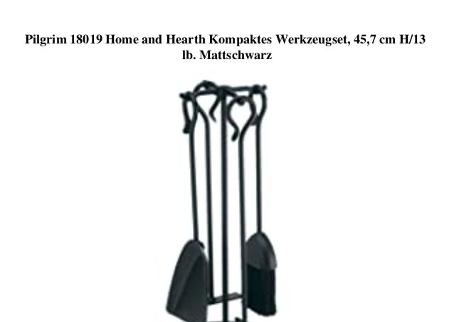 Pilgrim 18019 Home and Hearth Kompaktes Werkzeugset, 45,7 cm H/13 lb. Mattschwarz