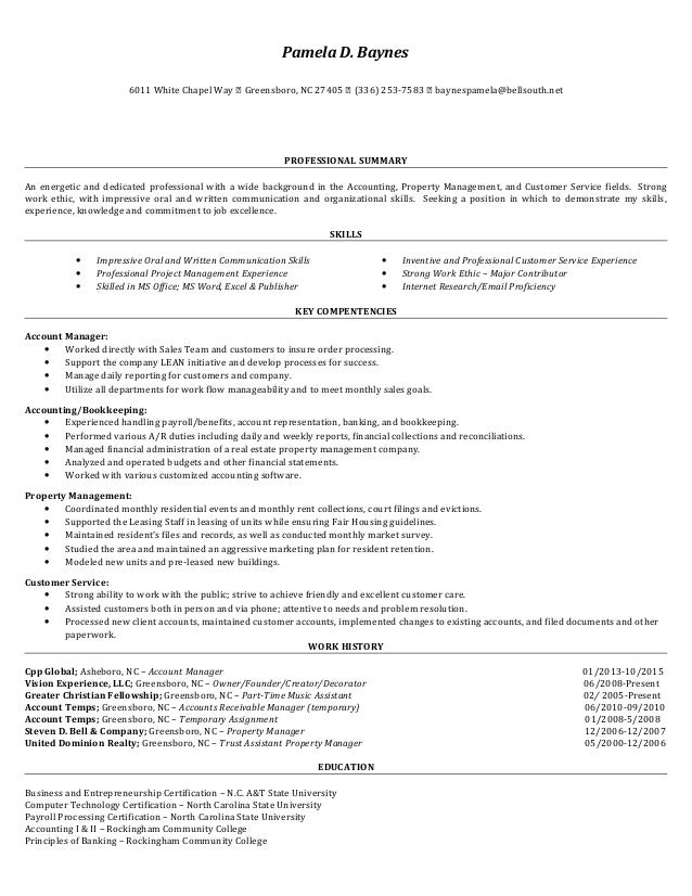 Amazing Nba Accounting Resume Contemporary - Best Resume Examples ...