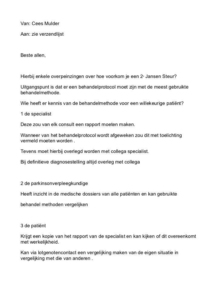 Van: Cees MulderAan: zie verzendlijstBeste allen,Hierbij enkele overpeinzingen over hoe voorkom je een 2e Jansen Steur?Uit...