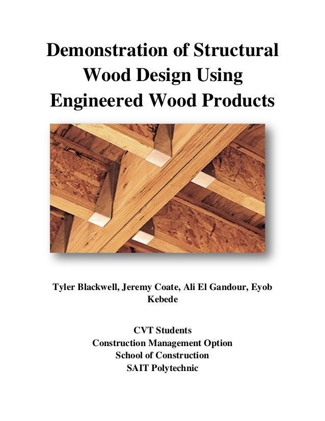 Structural Wood Design Capstone