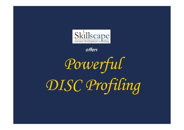 Powerful DISC Profiling offers