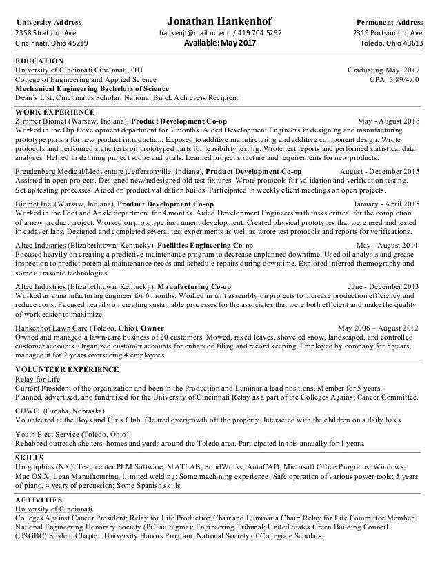 Jon Hankenhof Resume 91216