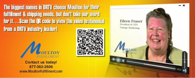 Contact us today! 877-362-2606 www.MoultonFulfillment.com The biggest names in DRTV choose Moulton for their fulfillment & s...