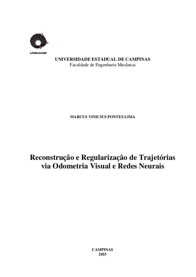 UNIVERSIDADE ESTADUAL DE CAMPINAS Faculdade de Engenharia Mecânica MARCUS VINICIUS PONTES LIMA Reconstrução e Regularizaçã...