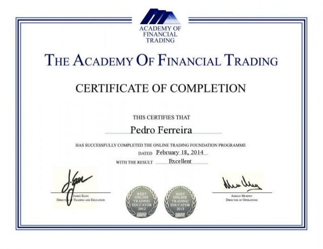 Academy Of Financial Trading Certificate