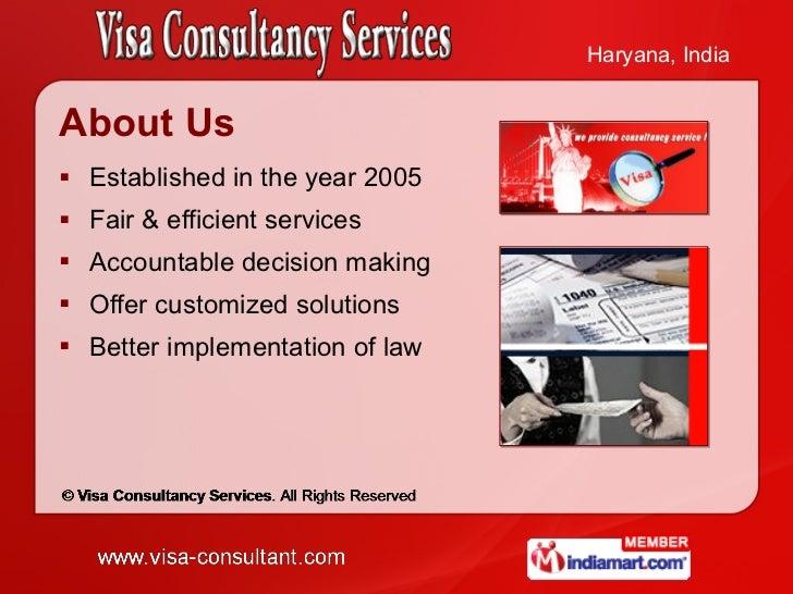 Visa Consultancy Services Haryana  India Slide 2