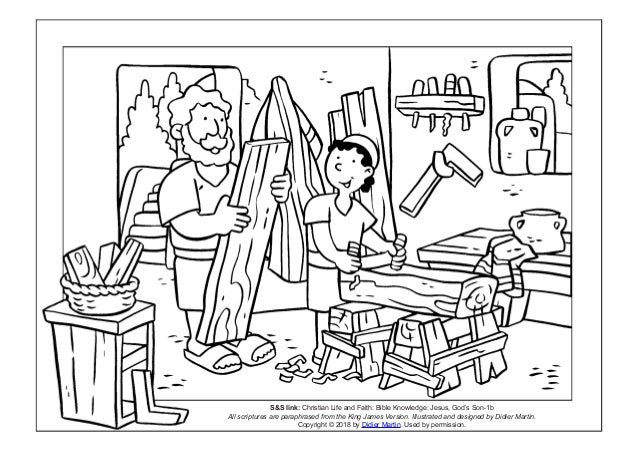 Coloring Page: Young People in the Bible: The Carpenter's Son
