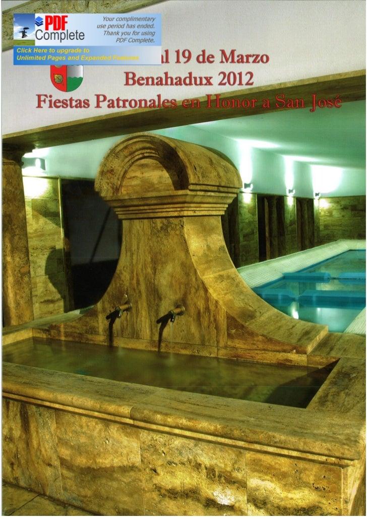 PROGRAMA DE LA FERIA Y FIESTAS DE BENAHADUX (ALMERÍA) 2012