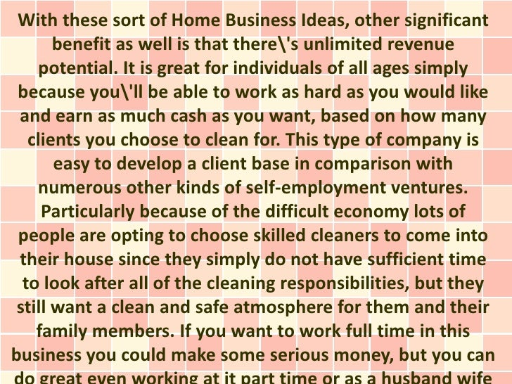 ideas for cleaning business