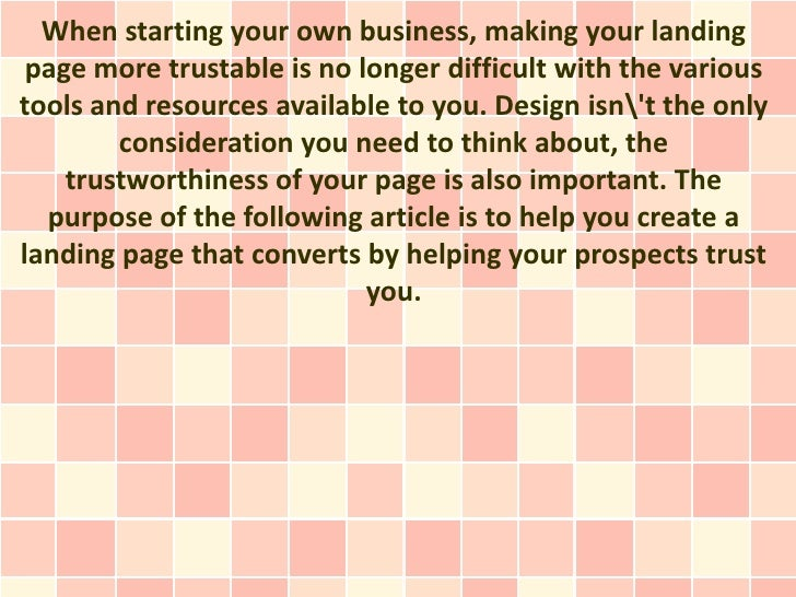 When starting your own business, making your landing page more trustable is no longer difficult with the varioustools and ...