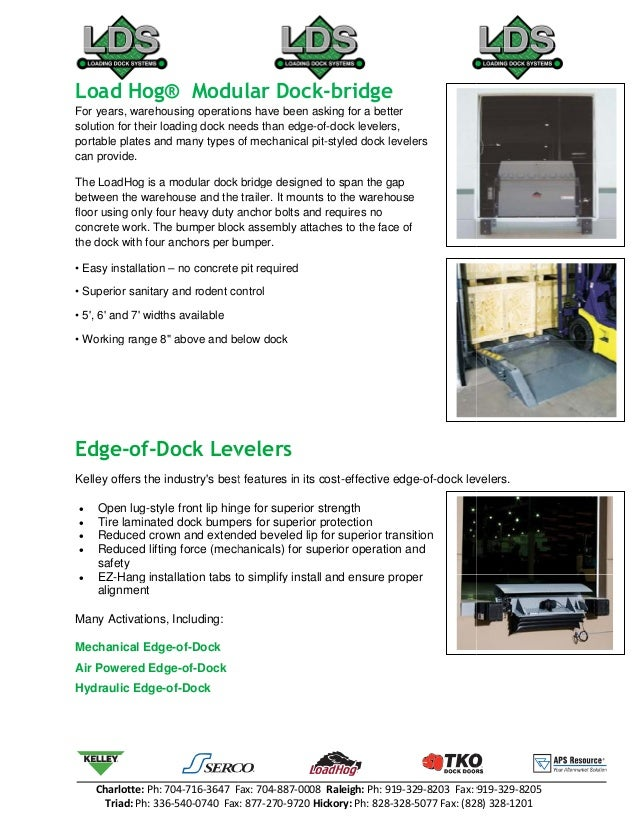 kelley dock leveler parts manual
